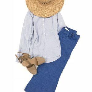 J.Crew Button-down Striped Shirt Size S
